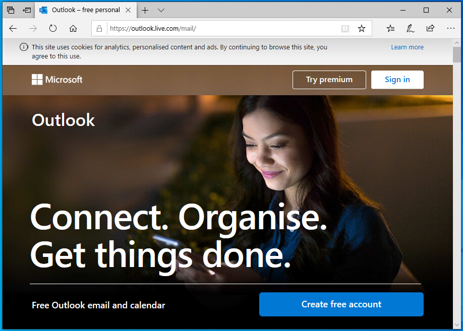 Outlook Live Welcome