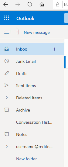 Outlook Live Folders with new account